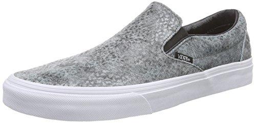 Vans Snake Grigio U Pebble Gray On Slip Snake Grau Unisex Pebble Black Classic Sneakers HdHqXWra