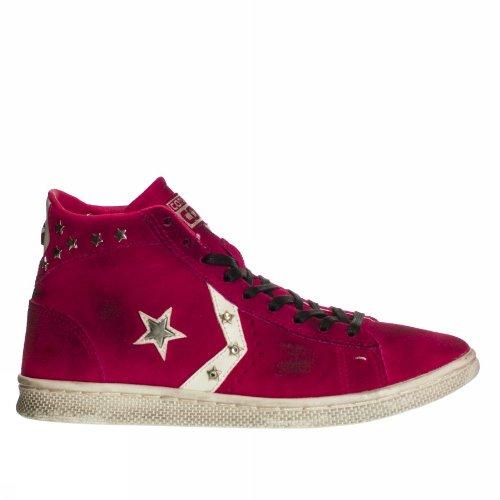 Converse - Zapatillas de Piel para mujer fuchsienfarbig: Amazon.es: Zapatos y complementos