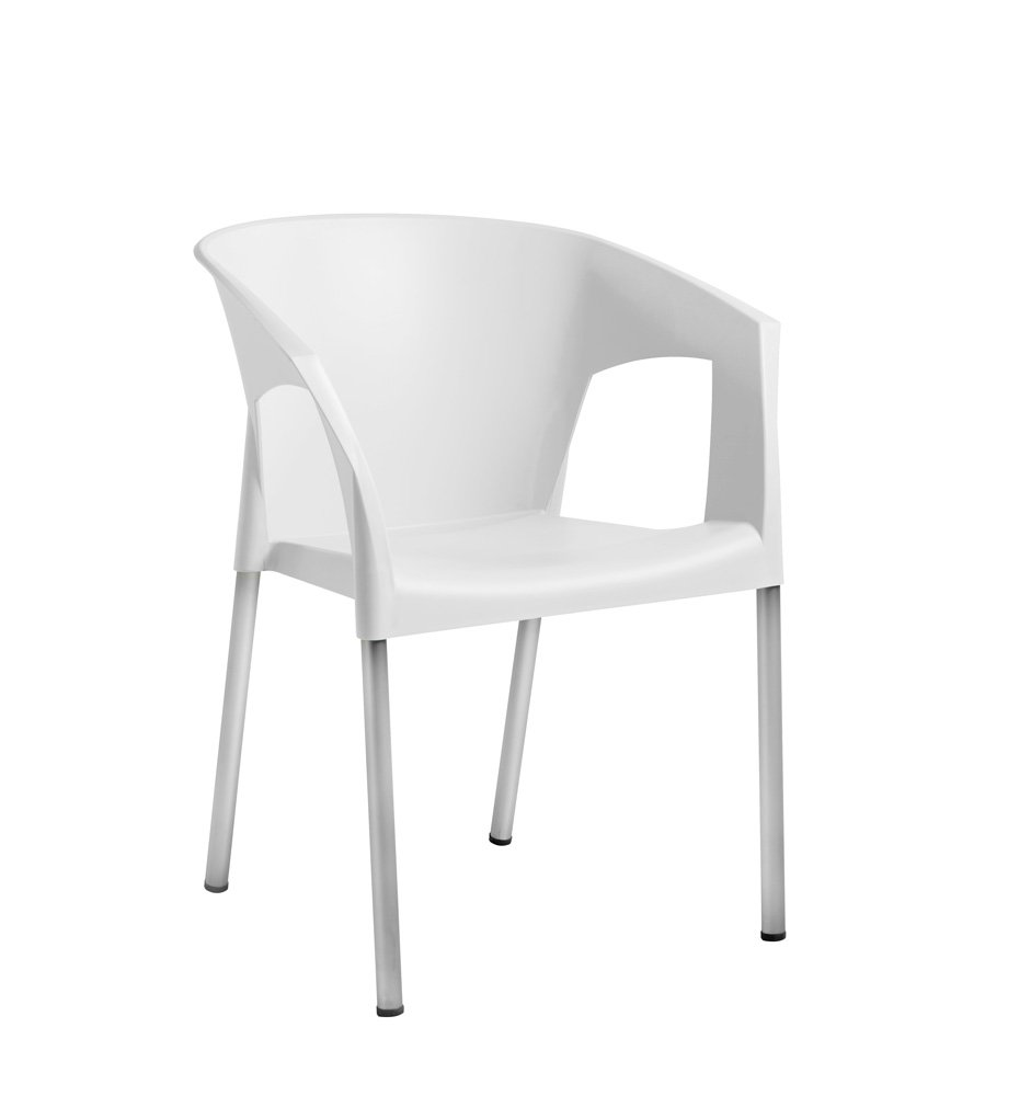 Lote de 2 sillones Alfa plastico Verde Pistacho y Aluminio ...