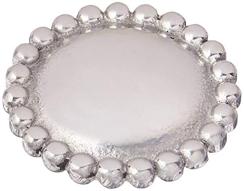 - MARIPOSA Round Pearl Napkin Weight, Silver