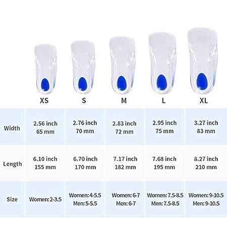 42-43 Plantillas de gel de silicona de la fascitis plantar insertos arco soporte plantillas ortop/édicas L