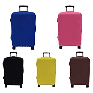 Travel Luggage Protect Cover Elastic Dustproof Anti-Scratch Suitcase Cover Fits 18-30 Inch Luggage (Blue Large)