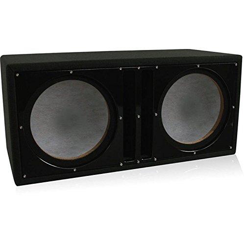Belva Dual 12-inch Car Ported Subwoofer Box 3/4-inch MDF Prelined Polyfil Includes Custom Black Baffle [BBX212BK] - Dual Woofer Box