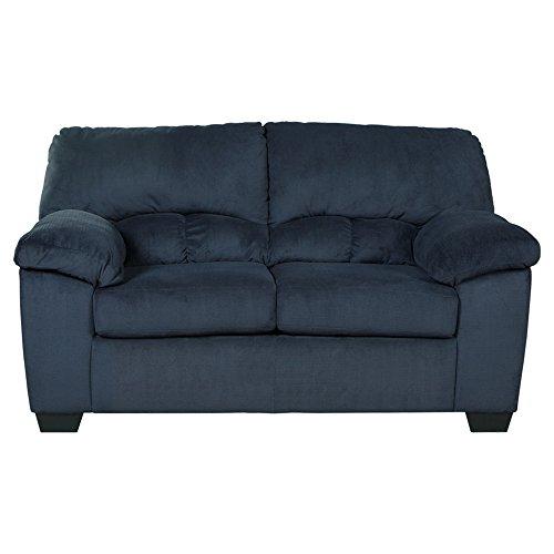 Ashley Furniture Signature Design - Dailey Contemporary Loveseat - Midnight Blue