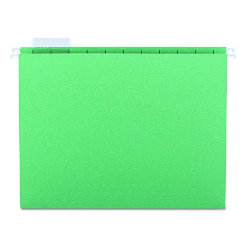 Smead Hanging File Folder, 1/5-Cut Adjustable Tab, Letter Size, Green, 25 per Box (64061)