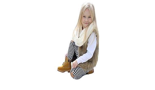 Bestow Chaleco de Piel sintética para niña Ropa de Abrigo de Invierno Chaleco de Piel sintética Abrigo Grueso Ropa de Abrigo(Caqui, 7T): Amazon.es: Ropa y ...