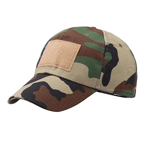 Vertily Unisex Casual Outdoor Baseball Snapback Plain Hip Hop Camo Sun Dad Cap (B) (One Marathon Unisex Pocket Top)