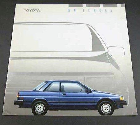 1989 89 Toyota TERCEL BROCHURE Deluxe EZ Liftback (Liftback Coupe)