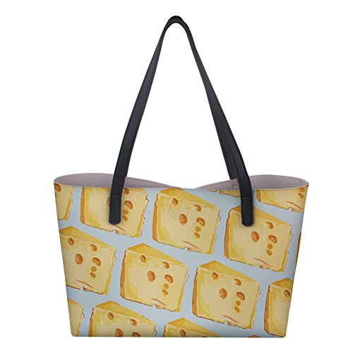 Tote Top Women's Satchel Purse Bag Bag Shoulder Handbag Handle Laptop Denim Cheese Designer Large 3 Pattern wHxX5fS0