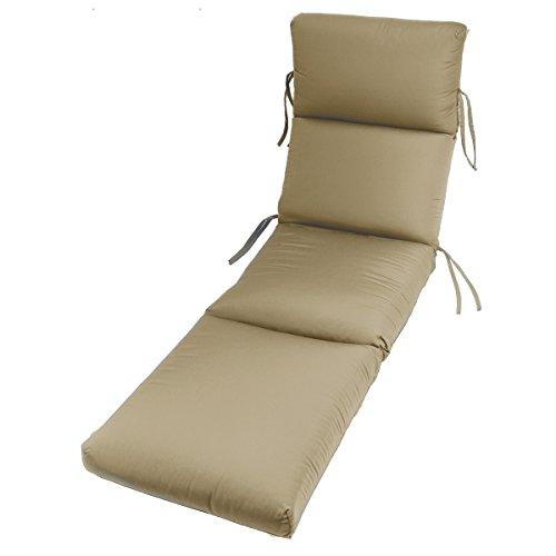 Comfort Classics 72 x 22 in. Sunbrella Channeled Chaise Lounge Cushion