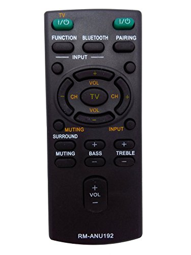 Price comparison product image Vinabty New RM-ANU192 REMOTE Replaced For SONY Sound bar Remote Control RM-ANU192 SUB RM-ANU191 HT-CT60BT SA-CT60BT