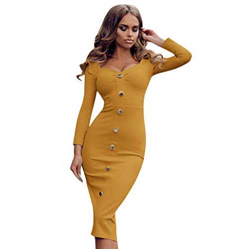 - Women Deep V Wrap Ruched Long Sleeve Party Maxi Dress