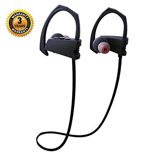 Wireless Headphones Bluetooth Sports Earphones Wireless Earbuds Noise Cancelling Headsets HD Stereo Sweatproof Waterproof IPX7 Bass HiFi in-Ear w/Mic