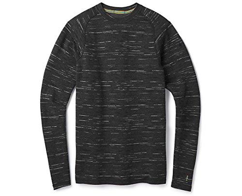 Underwear Crew Smartwool Long - SmartWool Men's Merino 250 Baselayer Pattern Crew (Charcoal-Black) S