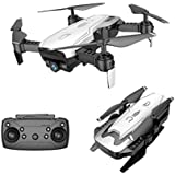 Cinhent Quadcopter, X12 Drone 720P Wide Angle Camera WiFi FPV 2.4G One Key Return Helicopter, 8.3 × 6.9 × 2.7 Inch, RC Flying Toy for Toddlers Adults Gift, Beginners Indoor Outdoor Play 2018 (White)