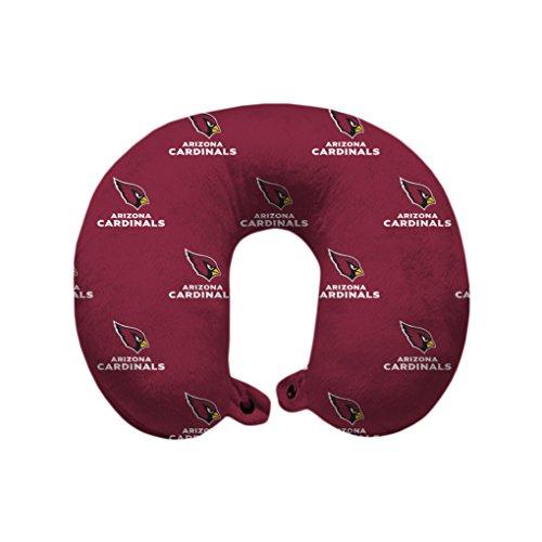 Pegasus Sports NFL Arizona Cardinals Arizona Cardinals U-Neck Polyester Travel Pillow, Cardinal Red