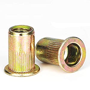 Rivet Nut, LOKMAN Zinc Plated Carbon Steel Rivet Nuts Threaded Insert Nuts in Variety Metric Size for Choice from LOKMAN