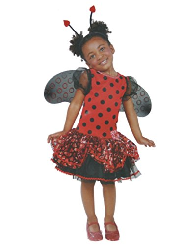 Infant & Toddler Girls Little Ladybug Costume with Dress Wings & Headband 2T-3T -