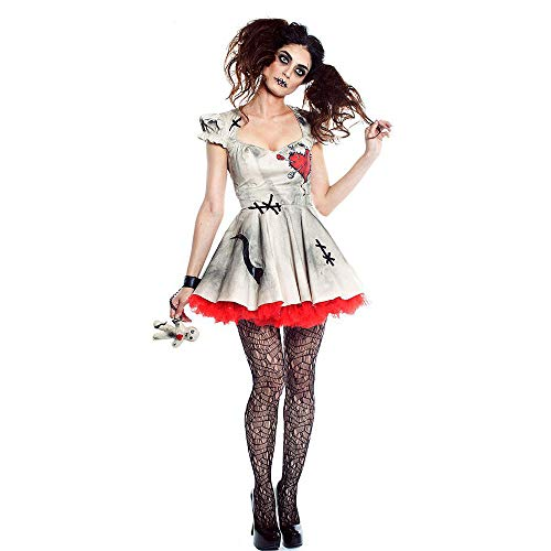 (LVLUOYE Halloween Cosplay Porcelain Doll Costume, Circus Clown Costume, Ghost Festival Party Ghost Bridal)