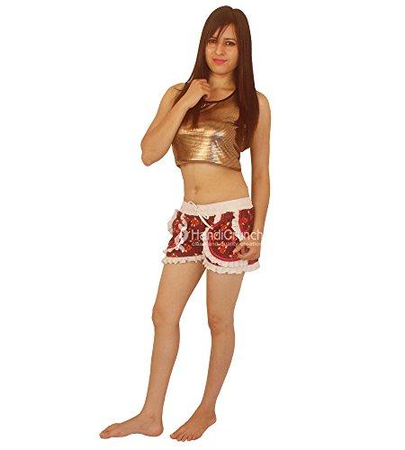 Mano Esportazioni Shorts Floral Wear Casual Beach Fatte Comodi Estate A Mandala TEfxZ4E