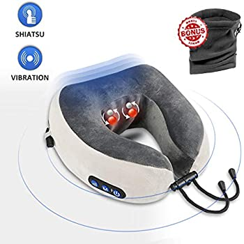 Amazon Com Heating Therapy Neck Pillow Travel Cervical