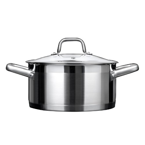 Duxtop Professional Stainless steel Cookware Induction Ready Impact-bonded Technology (4.2Qt Casserole)