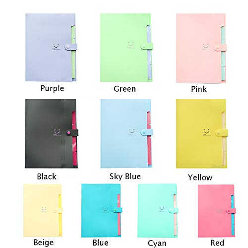 LiPing A4 File Document Bag Pouch Bill Folder Holder Organizer Fastener Decorative Gift for Bookshelf Office School Library and Home (C) by LiPing (Image #5)