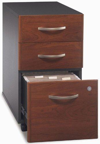 Bush Series C 3-Drawer Mobile Pedestal File, 28-1/8 In. High, Auburn Maple/Graphite Gray, EA - BSHWC48553SU
