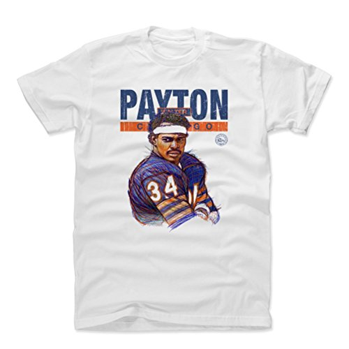 - 500 LEVEL Walter Payton Cotton Shirt Large White - Vintage Chicago Football Men's Apparel - Walter Payton Game Face Chicago