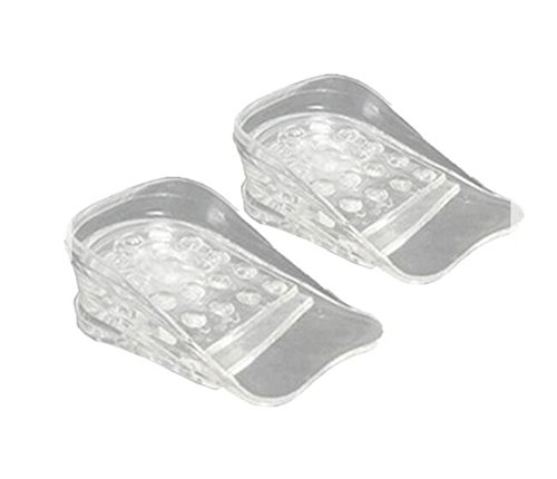 1 Pair 5-Layer Unisex Height Increase Insole Invisible Increased Lift Elevator Shoes Insoles Adjustable Taller Silicone Shoe Pads Cushion Inserts Heel Foot Insoles