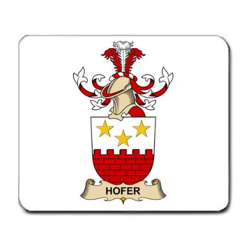 hofer-family-crest-coat-of-arms-mouse-pad