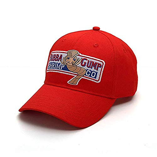 Adjustable Bubba Gump Baseball Cap Shrimp Co. Embroidered Bend Brimmed Hat]()