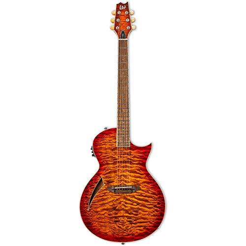 ESP LTD TL-6 Acoustic Electric Thinline Guitar, Tiger Eye Burst