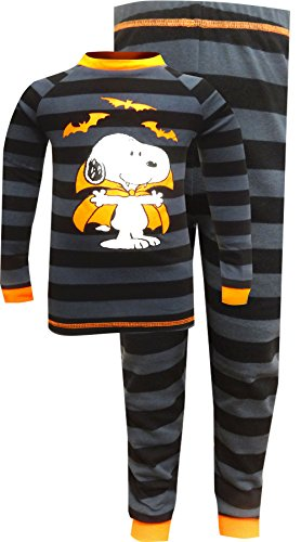 Peanuts Boys Snoopy Count Dracula The Vampire Halloween Pajamas (6) ()