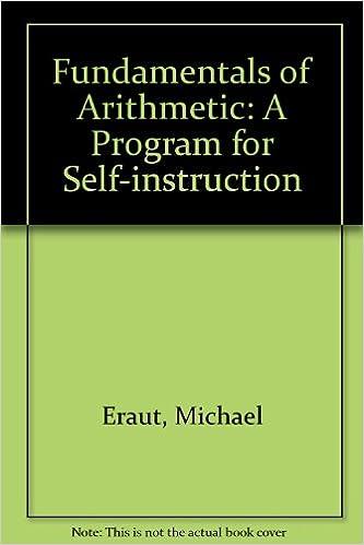 Fundamentals Of Arithmetic A Program For Self Instruction Eraut