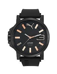Puma PU103911010 Reloj Análogo para Hombre, Redondo, color negro
