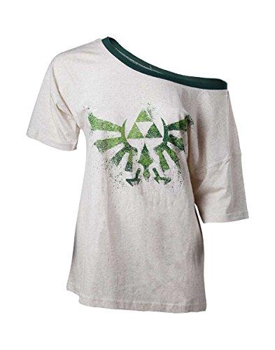 The Legend of Zelda Damen T-Shirt Skyward Sword Triforce Creme