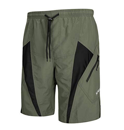 Santic Men's Cycling Shorts Loose-Fit 4D Padded Bike Bicycle MTB Mountain Bike Shorts (Bike Shorts Men Padded)