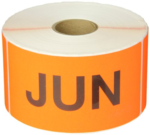 6 Inch Inventory Rectangle Labels - Tape Logic DL6802 Pre-Printed Months of the Year Inventory Rectangle Label, Legend
