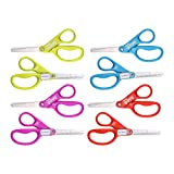 Stanley Minnow 5-Inch Pointed Tip Kids Scissors, 8 Pack, Assorted Colors (SCI5PT-8PK)