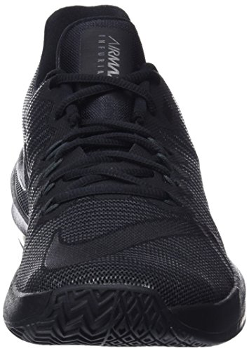 Nike Herren Basketballschuh Air Max Infuriate 2 Low Schwarz (Black/Black-Anthracite)
