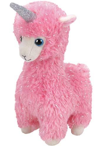Ty - Beanie Babies - Lana Pink Llama With Horn /toys (Baby Lola)