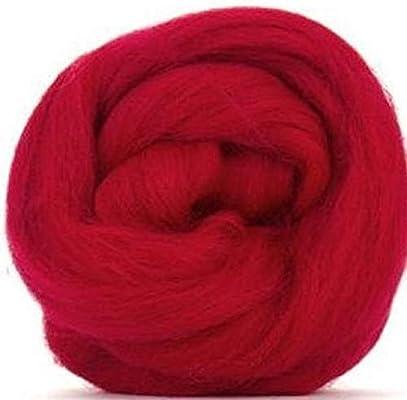 Fibras de paraíso de 4 oz escarlata (rojo) Corriedale Top Spinning ...