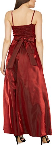 'Belle' Burgunderrot Satin Ballkleid Bliss BlackButterfly OwdqUO