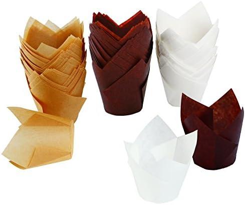 Resinta Pieces Cupcake Wrappers Natural