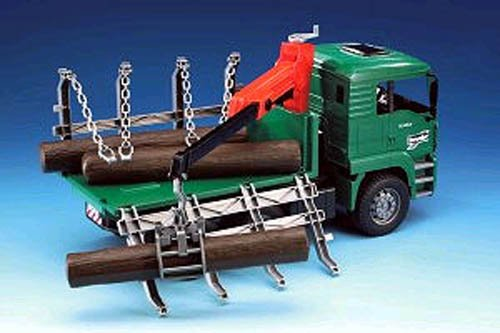 Bruder #02769 MAN TGA Timber Truck With Loading Crane! NEW!