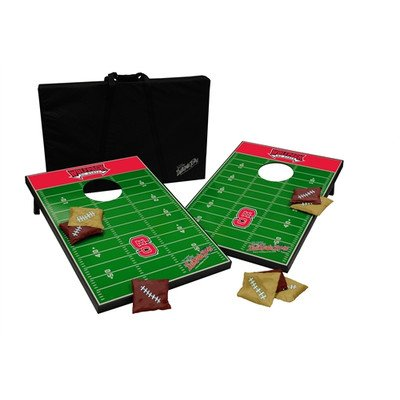 NCAA 10 Piece Cornhole Game Set NCAA Team: North Carolina State by Tailgate Toss