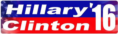 "CAR MAGNET: Hillary Clinton 2016 Election 3"" x 10"""