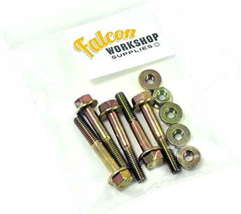 Pack of 5 x M12 x 60mm Yellow Zinc Flanged Hex Head Bolts /& Non-Serrated Flange Nuts