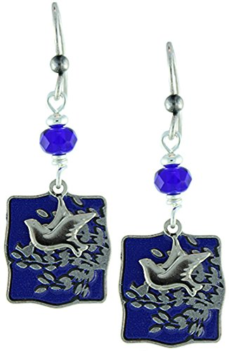 Earth Dreams-Dove and Branch Earrings